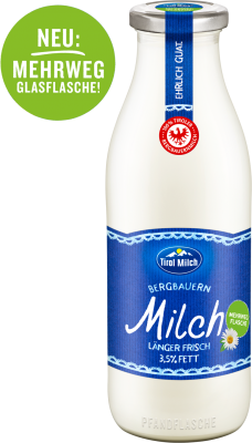 Alpine farm whole milk 3.5 % 1 L glass bottle