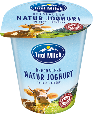 Tirol Milch Natural yogurt 500g creamy 1%